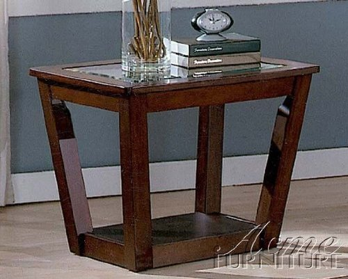 Image of End Table Contemporary Style Cherry Finish (VF_AM6354)