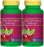Ultra Tart Cherry 1200 mg 2 Bottles x 100 Capsules