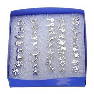 A Box Multi-style Electroplating Stud Earrings Anti-allergy Earrings Meawmeaw Store