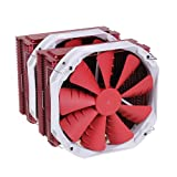 Phanteks PH-TC14PE_RD 5 x 8 mm Dual Heat-Pipes, Dual 140 mm Premium Fans, Quiet CPU Cooler with Patented P.A.T.S Coating (Red)
