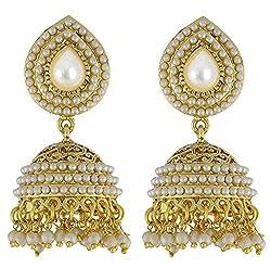YouBella White gold-plated Jhumki Earring for Women/Girls