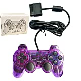 Saloke Wired Gaming Console for Ps2 Double Shock (Clear Purple) (Color: Clear Purple)