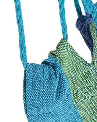 KAMIERFA Tragbare Gestreifte Canvas Hängematten für Outdoor Camping Reisen Blau von KAMIERFA bei Gartenmöbel von Du und Dein Garten