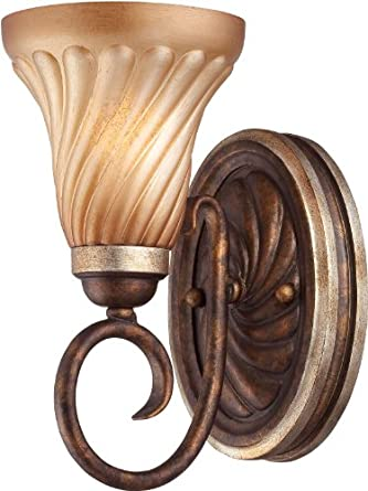 Amazon.com : Minka Lavery 6981 Tuscan 1 Light Wall Sconce with Old