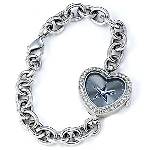 Ladies NFL Dallas Cowboys Heart Watch by Jewelry Adviser Nfl Watches