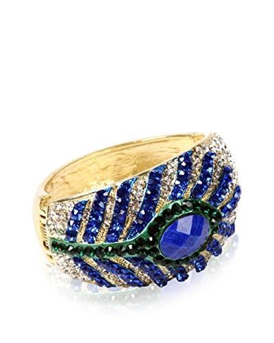 Amrita Singh Brazalete Peacock Feather Cuff