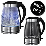 2x Russell Hobbs 15082-10 Illuminating Clear Glass Kettle With Oust