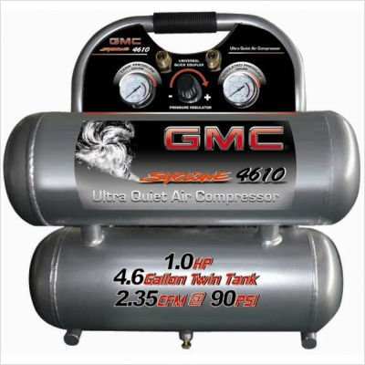 GMC SYCLONE 4610 Ultra Quiet & Oil-Free Air Compressor