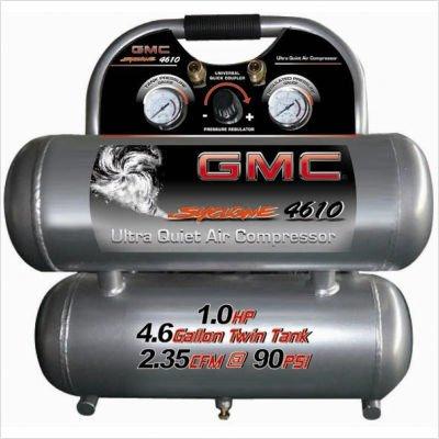 GMC SYCLONE 4610 Ultra Quiet & Oil-Free Air Compressor