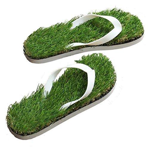 GAXmi Women's Summer Casual Artificial Lawn Grass Flip Flop US 8.5