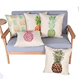 Monkeysell-Stylish-Colorful-cartoon-Pineapple-hand-painted-figure-linen-quare-Decorative-Fashion-Throw-Pillow-Cover-18X18