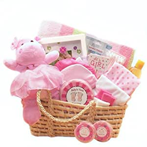 com for a precious new baby girl gift basket great shower gift