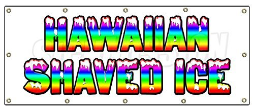 48x120-hawaiian-shaved-ice-banner-sign-hawaian-cart-stand-icee-icy-signs-by-signmission
