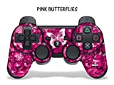Protective Skin for Playstation 3 Remote Controller - Pink Butterfly