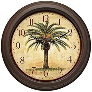 "The Cabana 12"" Resin Palm Tree Wall Clock"