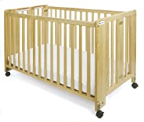 Hot Sale Foundations Full Size HideAway Nursery Folding Fixed Side Crib, Natural