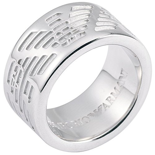 Emporio Armani EG1317 Men's 925 Sterling Silver Ring, 17.8 mm, Size P