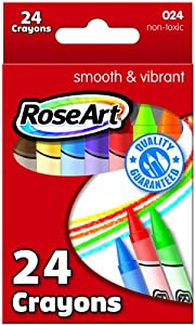 RoseArt 24-Color Crayons, Pack of 12 (024)
