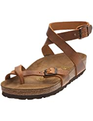 Birkenstock Thong ''Yara'' from Leather in antique brown with a regular insole by Birkenstock