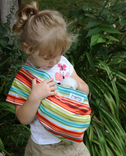 Snuggy Baby Child'S Doll Sling Baby Doll Carrier - Caribben Stripe front-972929