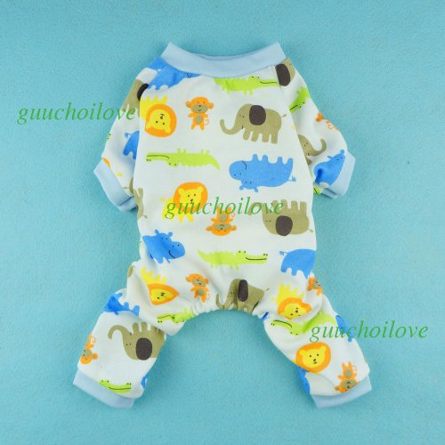 Fitwarm Cute Lion Dog Pajamas Dog Jumpsuit Dog Clothes Soft Dog Shirt, Large