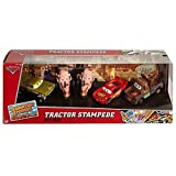 Disney/Pixar Cars, Radiator Springs Classic, Tractor Stampede Die-Cast Vehicle Gift Pack [Lightning McQueen, Mater, Yellow Hydraulic Ramone, and 2 Tractors] (Color: purple, Tamaño: ball64)