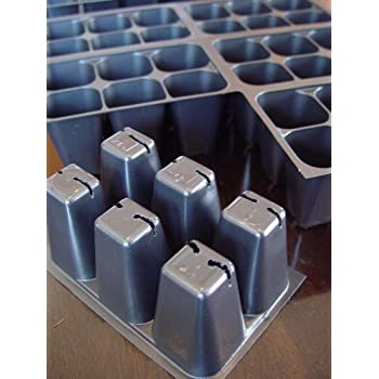 720 Cells Seedling Starter Trays for Seed Germination +5 Plant Labels (120, 6-cell Trays)