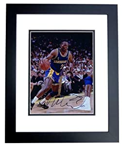 Mitch Ritchmond Autographed Hand Signed Golden State Warriors 8x10 Photo - BLACK...