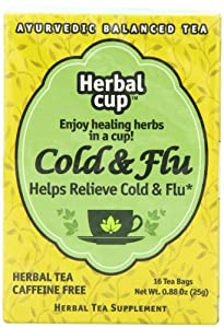Herbal Cup Herbal Tea, Cold and Flu, 16 Count