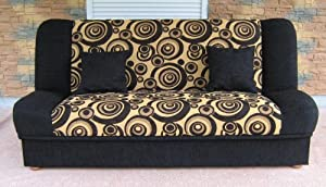 Sofa Bed Maddy with bedding place and 'clic-clak' mechanism. Any colors