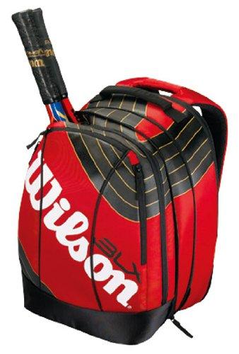 Wilson Tennisrucksack BLX TEAM Backpack, rot/schwarz/gold, 34x48x25 cm