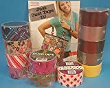 Duct Tape Craft Kit with Book and 12 roll Combo Pack. Just Duct Tape It! and 12 Rolls of tape