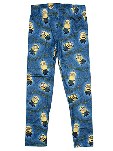 Minions Official Girls Legging 7/8 Years Blue