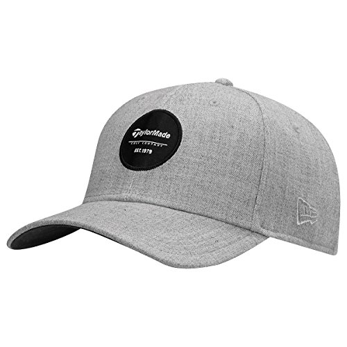 taylormade-new-era-39thirty-crest-cap-gray-medium-large