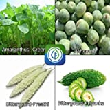 Vegetable Seeds Combo Pack For Kitchen Garden - Amaranthus- Green,Ashgourd,Bittergourd-Preethi,Bittergourd-Priyanka...