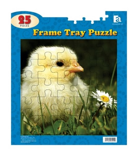 "Frame Tray Puzzle 25 Pieces 12""x14""-baby Chick - 1"