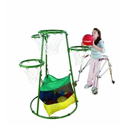 Amazon.com: Flaghouse Adjustable Multi-Ring Basketball Stand