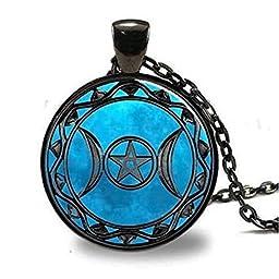 AoYa Lady\'s Retro Pendant Necklace Personalized Sagittarius Special Design Chain Necklace-Black