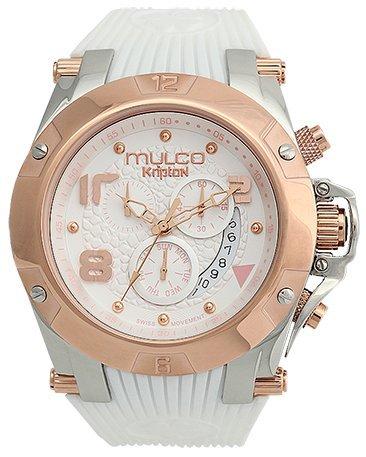 MULCO Unisex MW5-2029-013 Analog Display Swiss Quartz White Watch