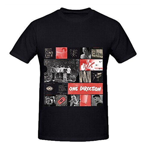 One Direction Best Song Ever Soul Album Men O Neck Customized T Shirt Black (One Direction Bff compare prices)