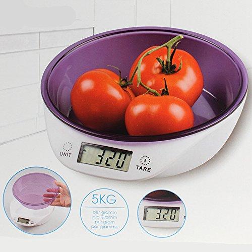 Maison futée - Balance numérique de cuisine avec bol doseur
