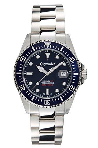 Gigandet-Automatik-Herren-Armbanduhr-Sea-Ground-Taucheruhr-Uhr-Datum-Analog-Edelstahlarmband-Blau-Silber-G2-009