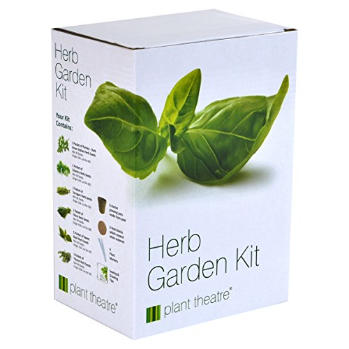 Plant Theatre Herb Garden Seed Kit Gift Box - 6 Different Herbs to Grow, Superb Gift!