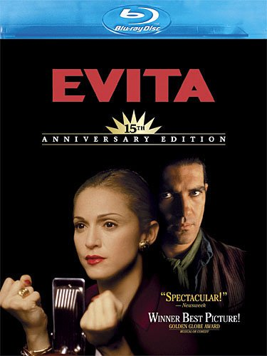 Cover art for  Evita (15th Anniversary Edition) [Blu-ray]