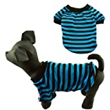 Dogloveit Classic Pet Puppy Cat Dog Clothes Stripe Style Casual Dog Shirt Cool Summer Clothes for Dogs XS S M L XL (S)