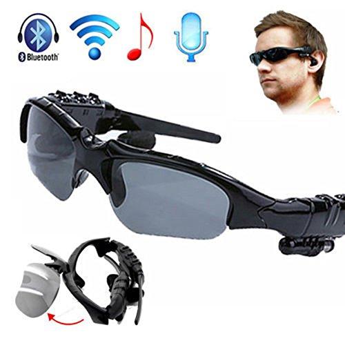 High Quality Sport Bluetooth Earphone Headphones Sun Glasses Headset Mobile Phones Hands Free Stereo Earphone - Black