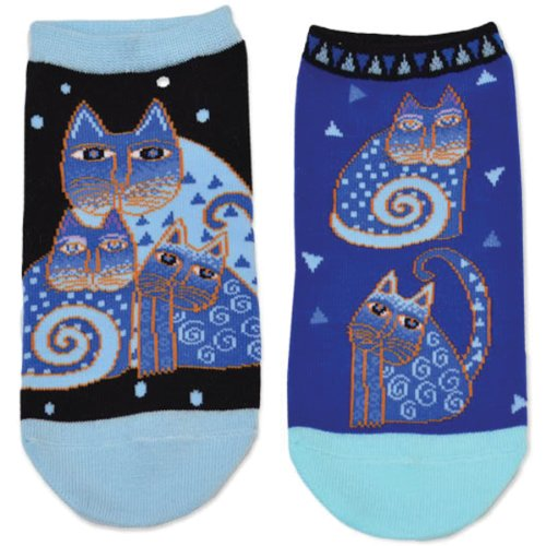 k-bell-laurel-burch-socks-indigo-katzen-2-stuck