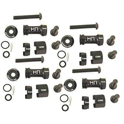 Hot Racing SCP10MW01 Alum Multi Width 12mm Hex Hub 30-60mm, AX10, SCX10, Wraith