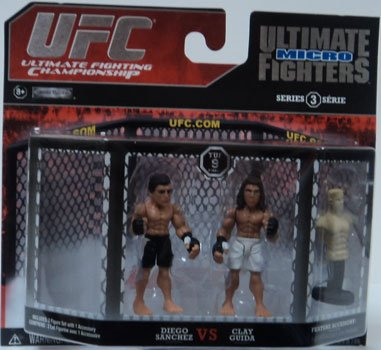 UFC Jakks Pacific Series 3 Ultimate Fighters Micro Figure 2Pack Diego Sanchez vs.Clay Guida - 1