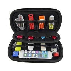 Onwon USB Drive Organizer Electronics Accessories Case Big Capability USB Flash Drives Bag (Blue)